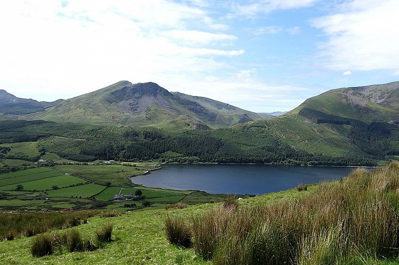 View of Cwellyn Lake and Campsite from Snowdon Ranger Path